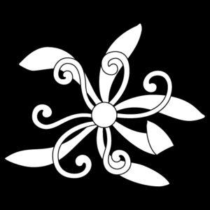真向き蘭の花