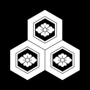 三つ盛亀甲花菱