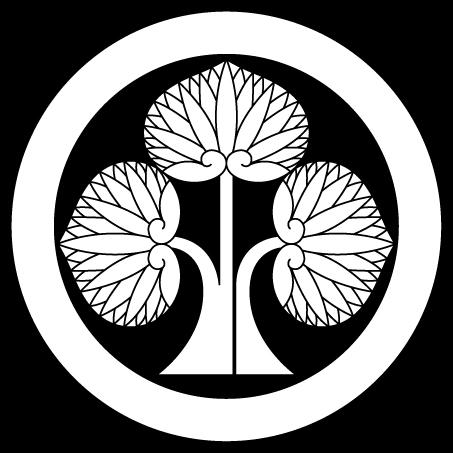 本多立ち葵(丸に右離れ立ち葵)
