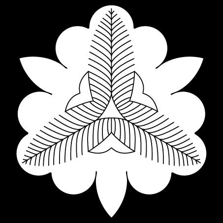 向う杜若の花