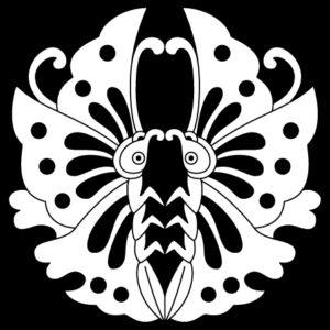 変り対い鎧蝶