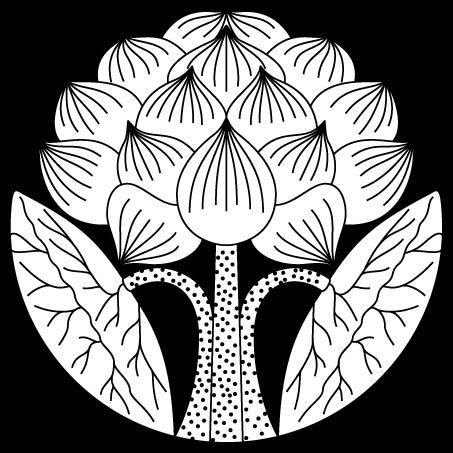 葉付立蓮の花