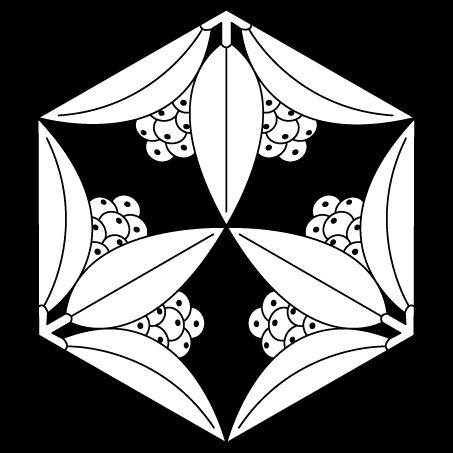 六角形三つ割南天